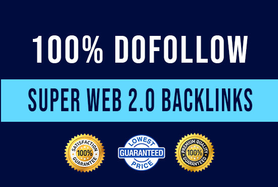 I will create 100 super web 2 0 backlinks
