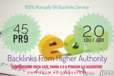 I will manually do 40PR9 + 20 EDU/GOV safe SEO High PR Backlinks 2020 best result