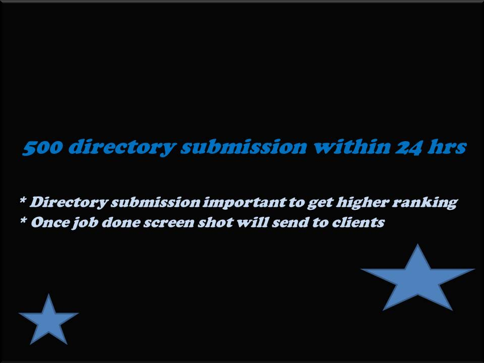 I will upload your website to 500 directories