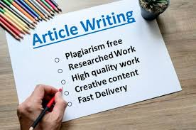 I will write any article of your desired choice