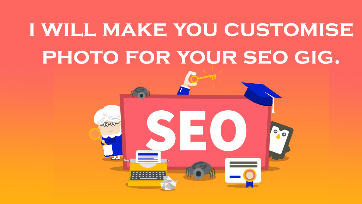 I will make you a customized photo for your seo service