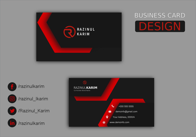 Professional Unique Premium Business Card within 12 hours