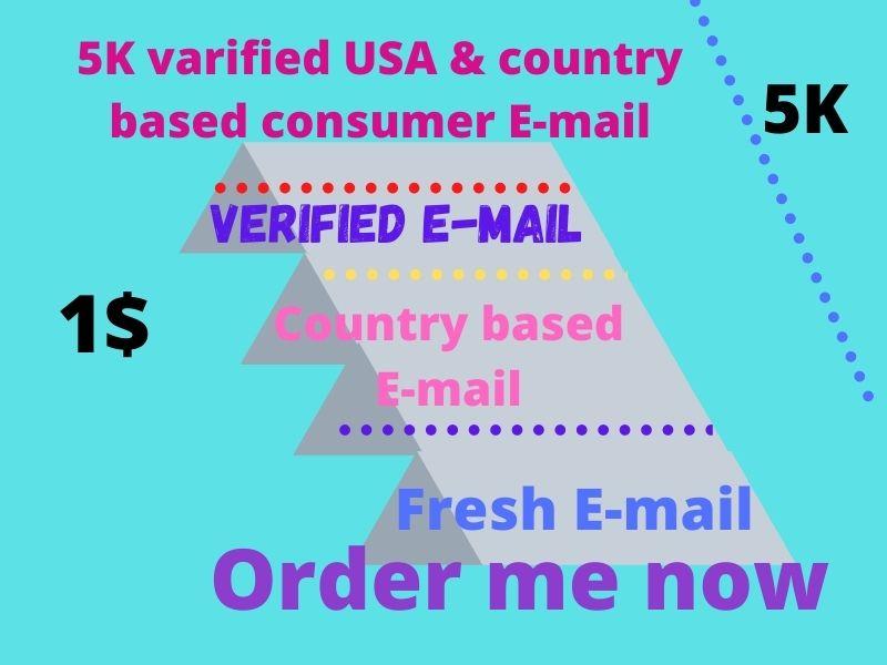 5K verified USA consumer Email list