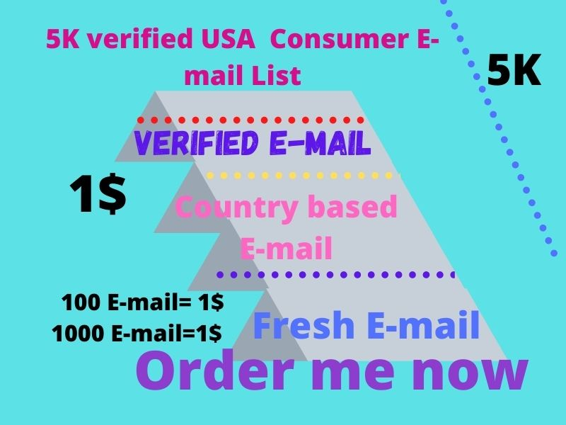 5K verified USA consumer Email list