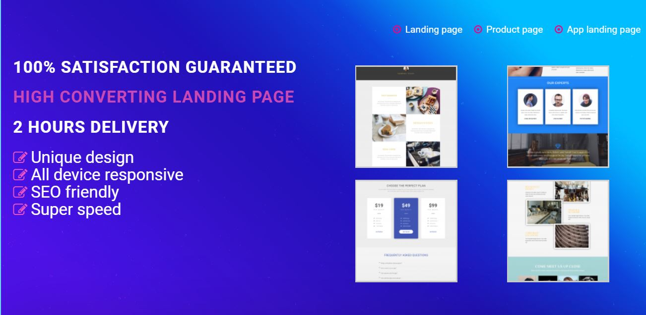 Create awesome wordpress responsive landing page in 2 hours