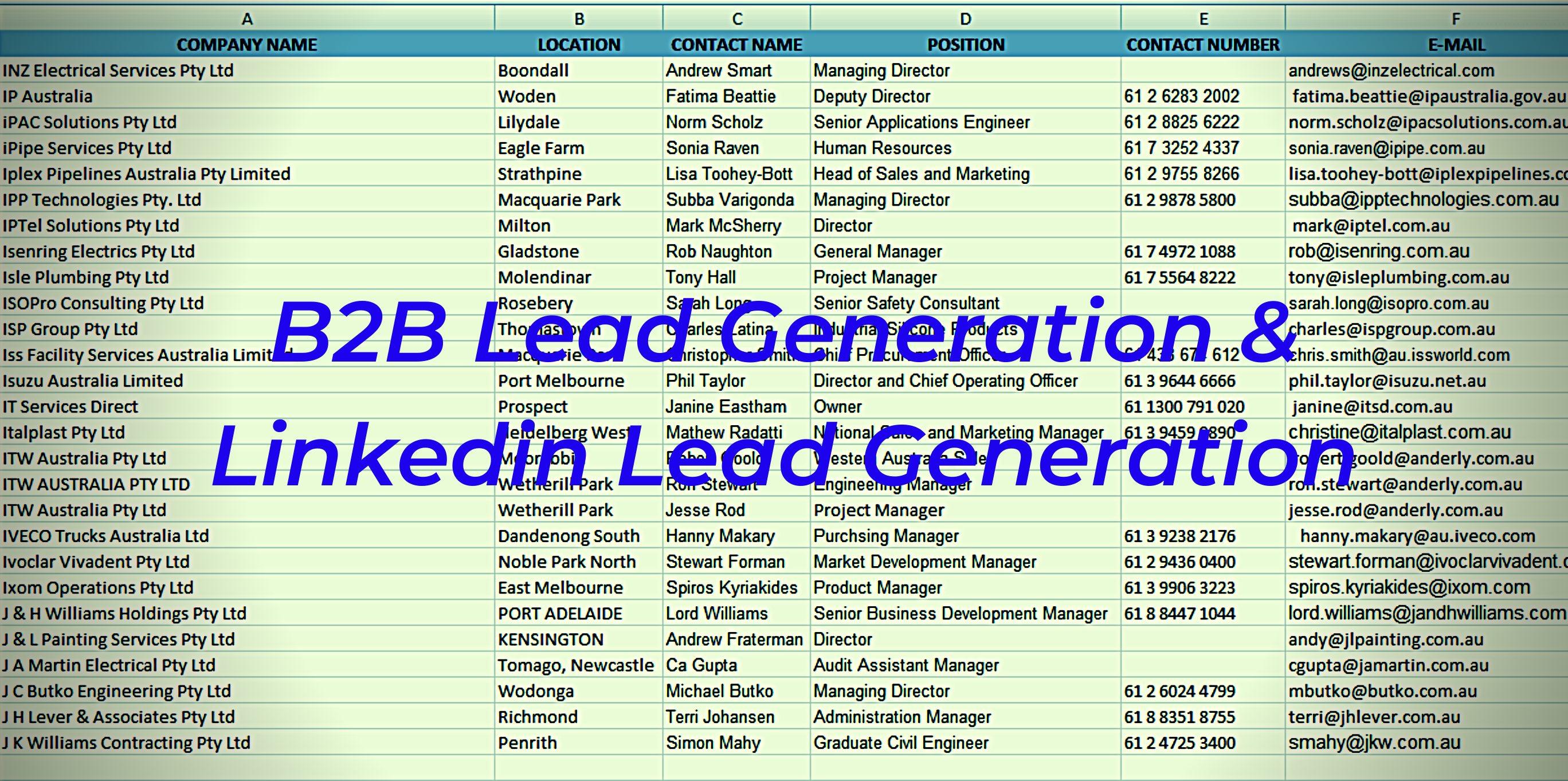 I will Do 50 targeted lead generation email list