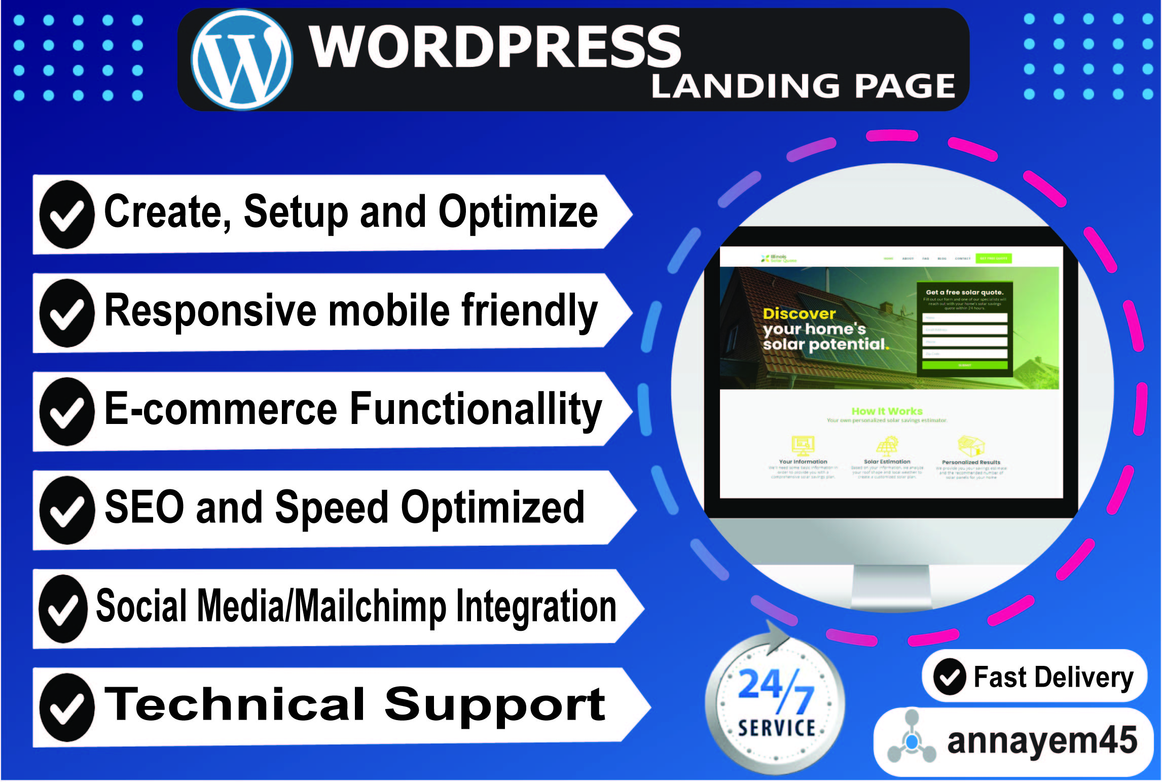 I will design wordpress landing page or elementor landing page upto 5-section