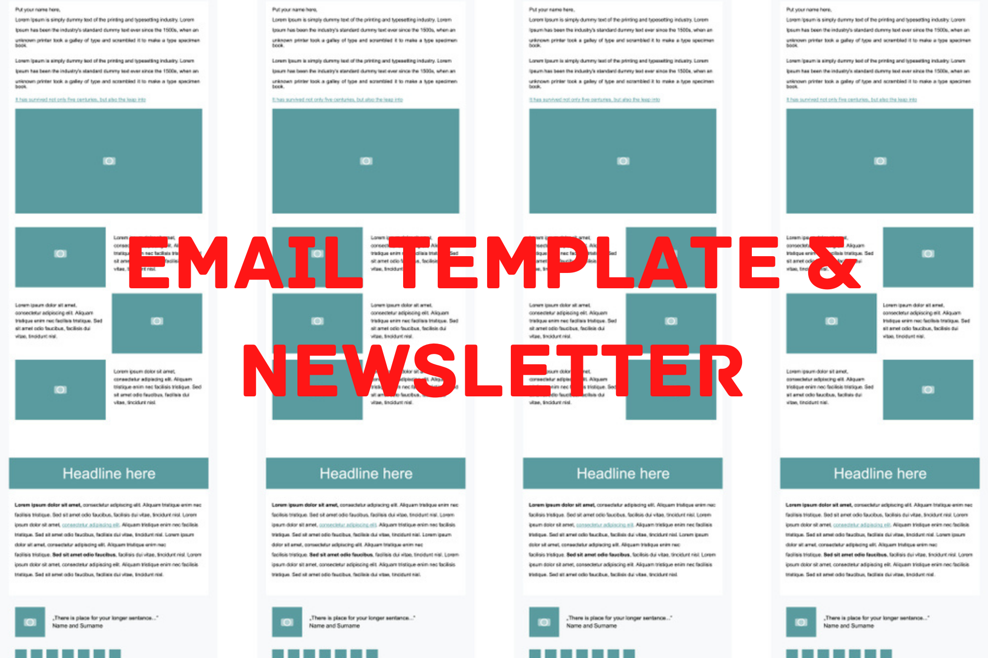 I will design one html email template or newsletter