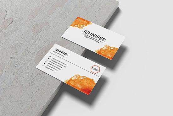 I will design minimalist business card