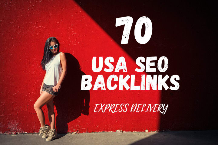 I will create 70 white hat SEO USA backlinks,  link building