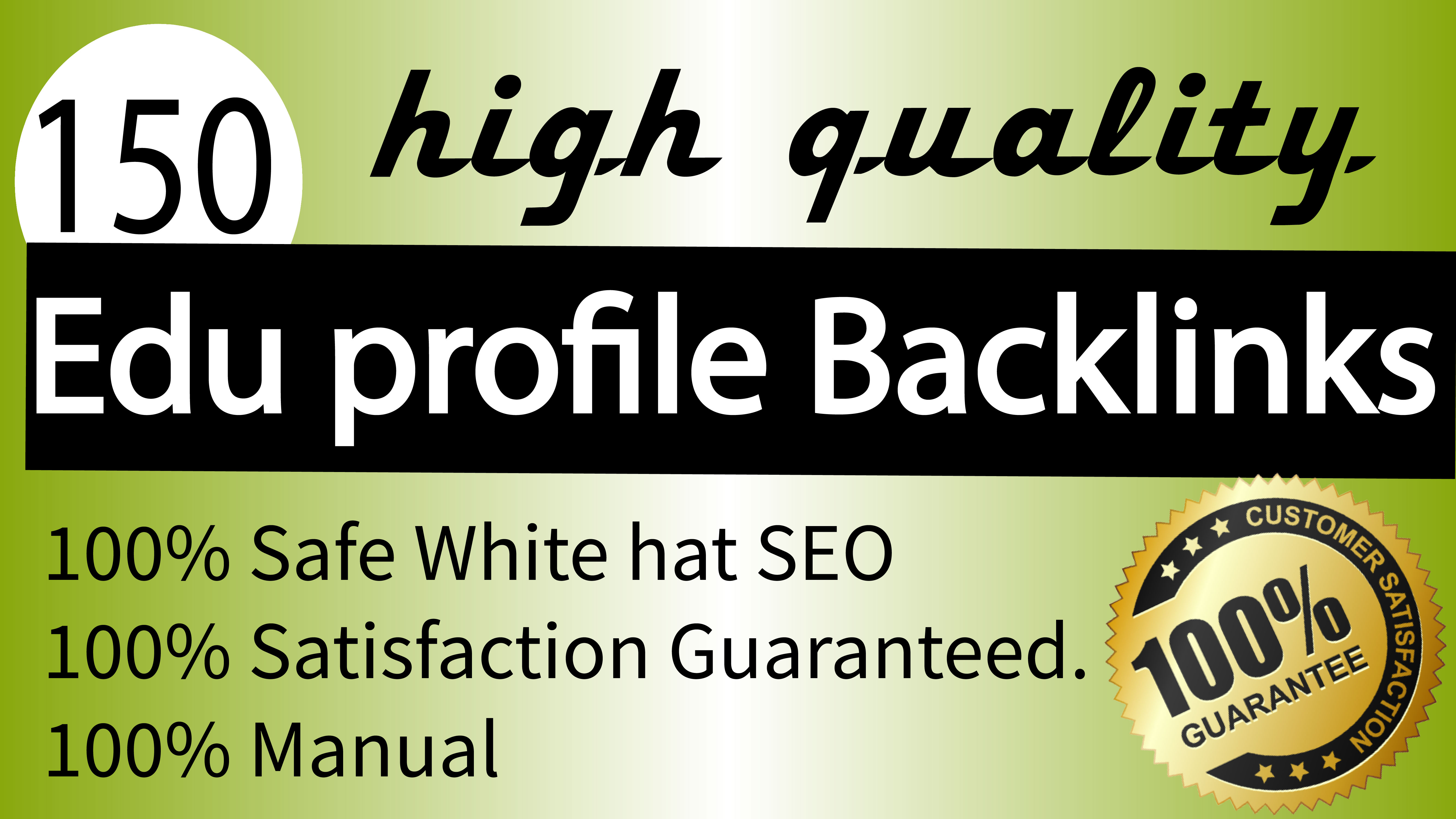 I will create 150 pr 25 edu dofollow profile backlinks best rank for your site
