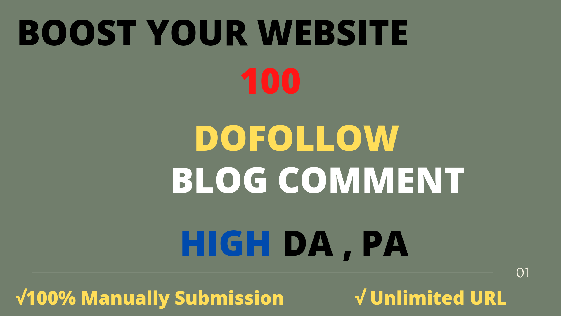 I will provide 100 niche relevant blog comment backlink service