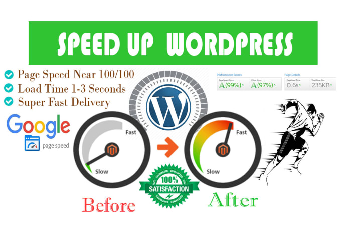 I will speed up wordpress website for google pagespeed insights for increase ranking