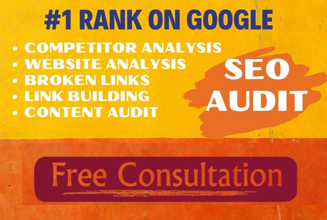 Complete SEO audit report and competitor analysis