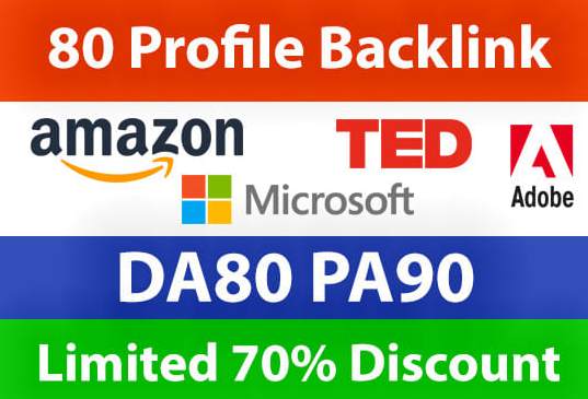 Do 80 High Domain Profile BackLink For Increase Your Google Ranking And Stay On Top Page