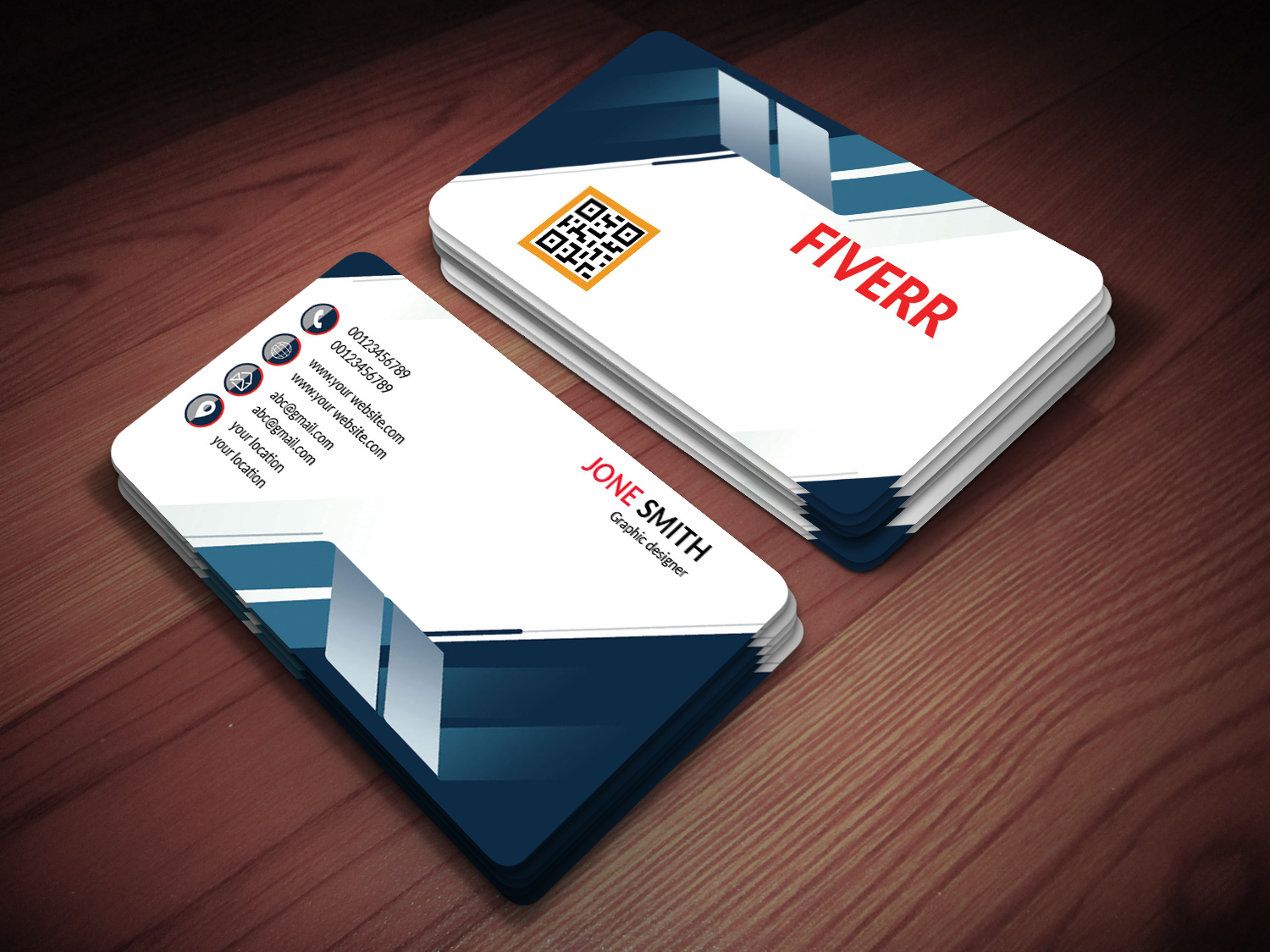 I will unique business card With free qr cord