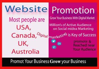 promote your website/business on active social media;