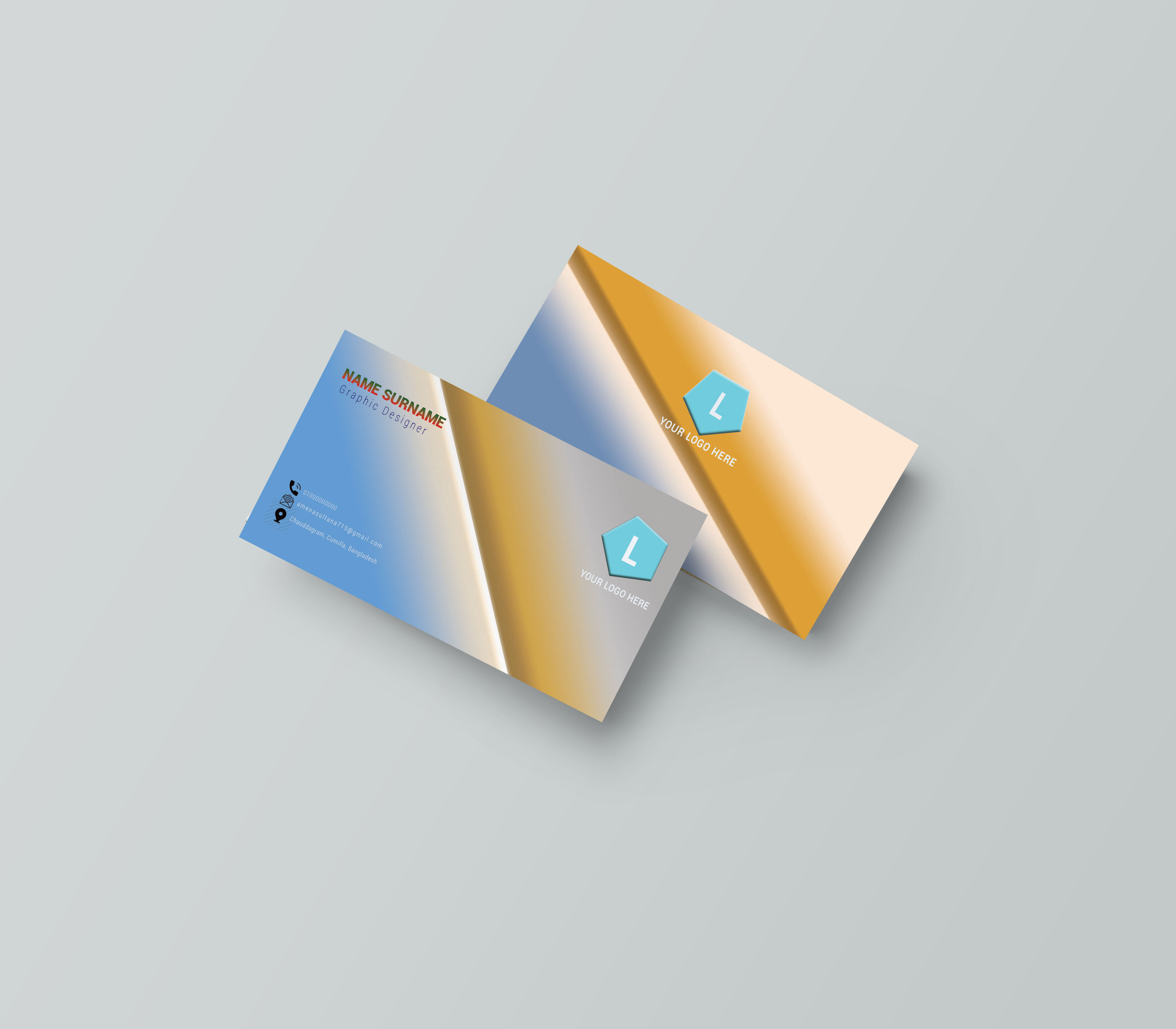 I will design modern,  minimalist and professional business cards