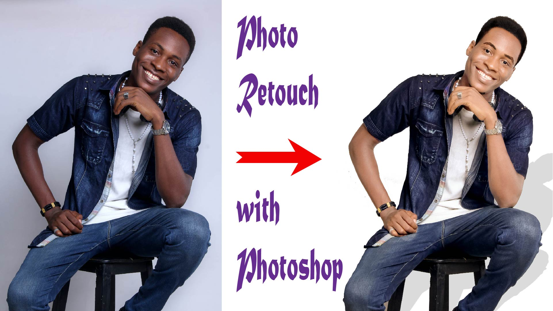 Background Removal Photo Retouch with Photoshop