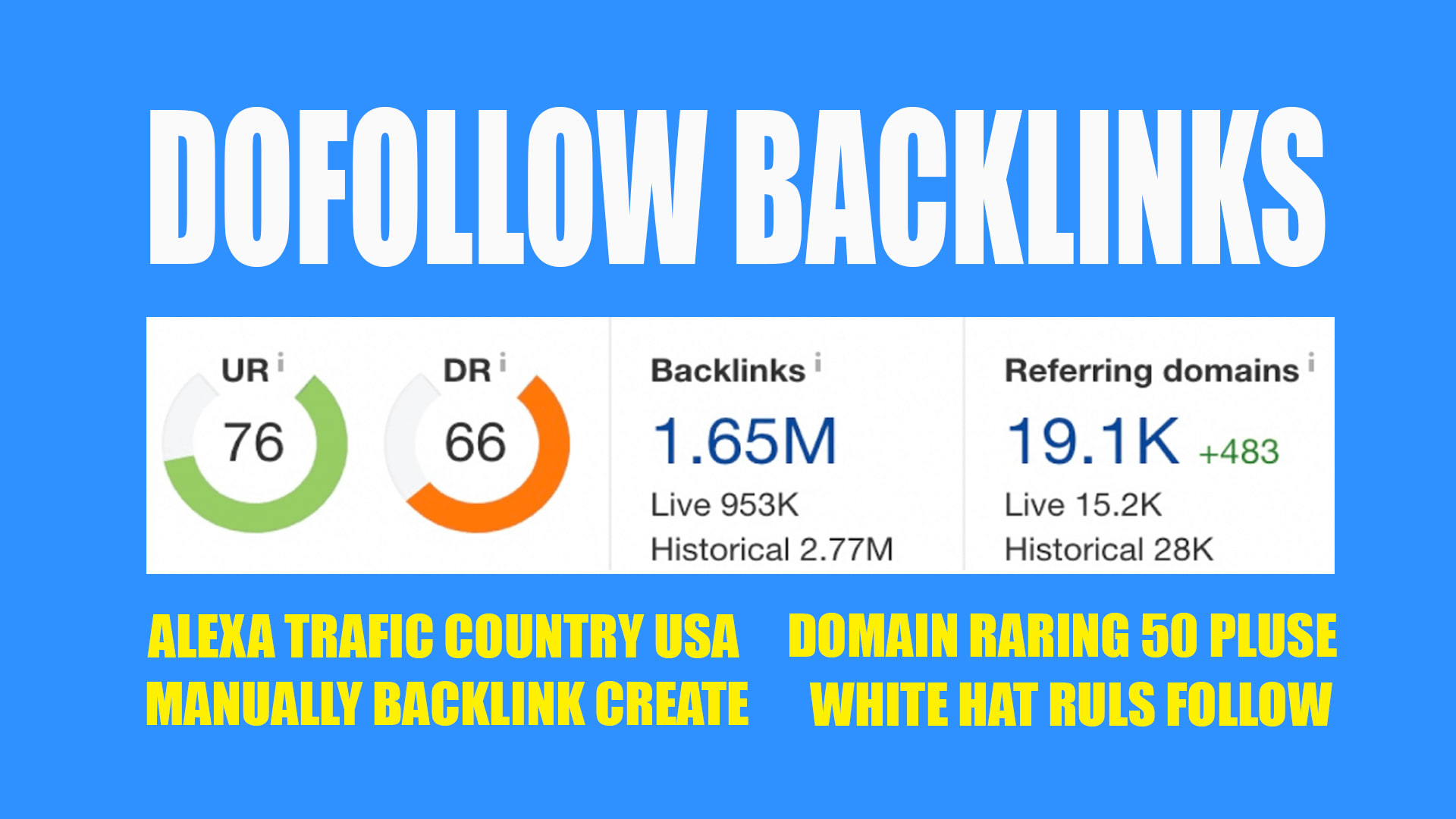 do 50 HIGH DR link building,  dofollow backlinks for off page SEO