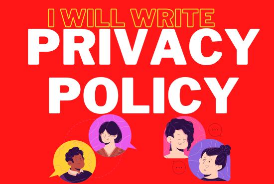 Privacy Policy Writing Service unique