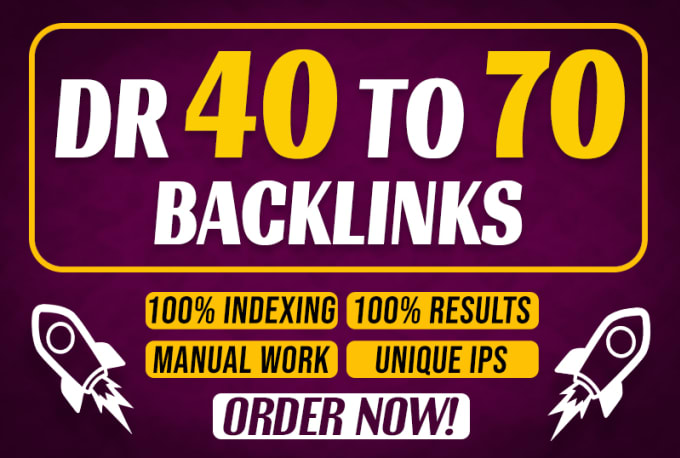 I will build 200 high quality high Dr 40 to 70 Seo dofollow contextual backlinks