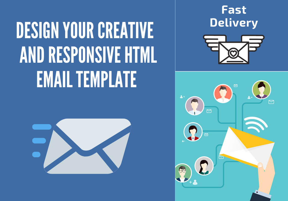 Design a responsive HTML email template with creativity