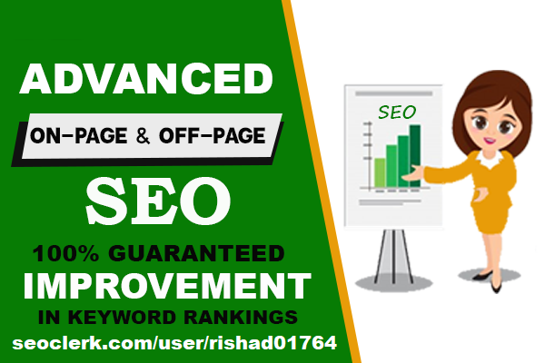 Advanced Seo Service 1000+ HQ Backlinks Inprove Your Keywords Ranks In Google Monthly Service
