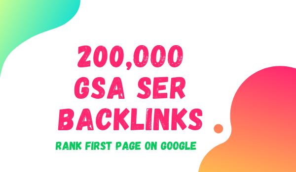 I will create GSA 200K Verified SEO backlinks for you website rank on google