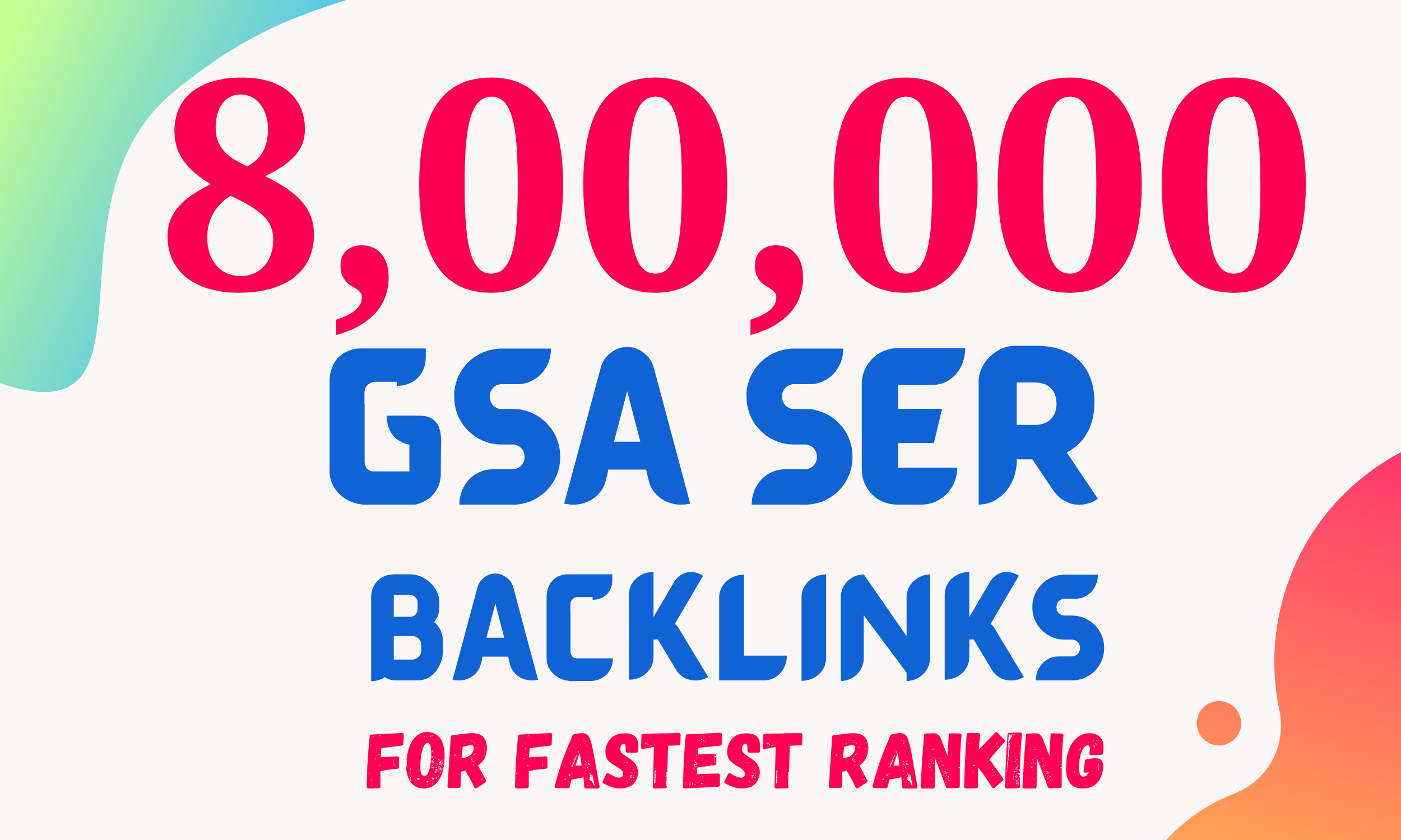 I will Create 8000k High Quality GSA SER Backlinks and Rank your website on Google