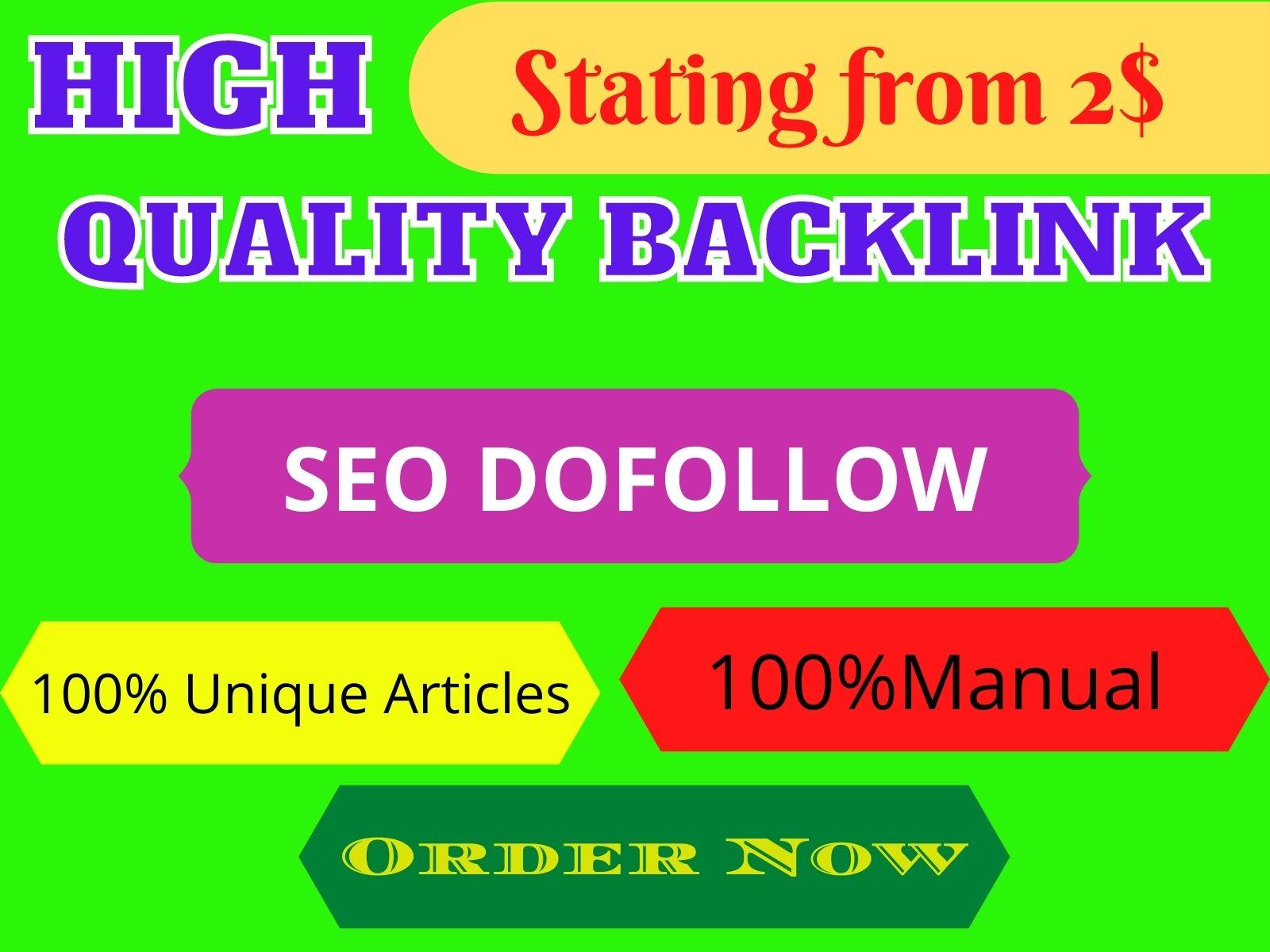 I will create 7 do-follow SEO backlinks