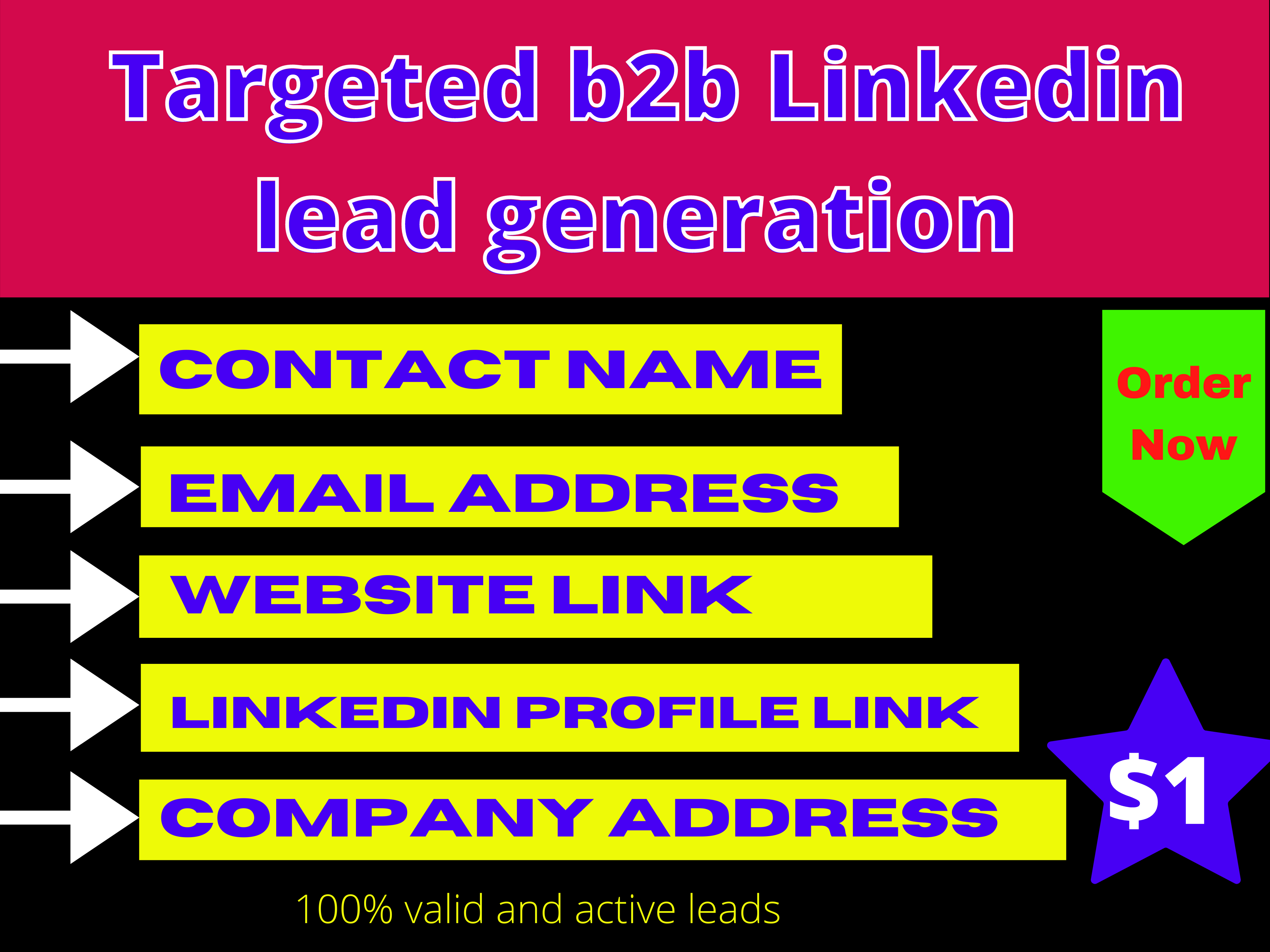 I will do 10 targeted b2b Linkedin lead generation