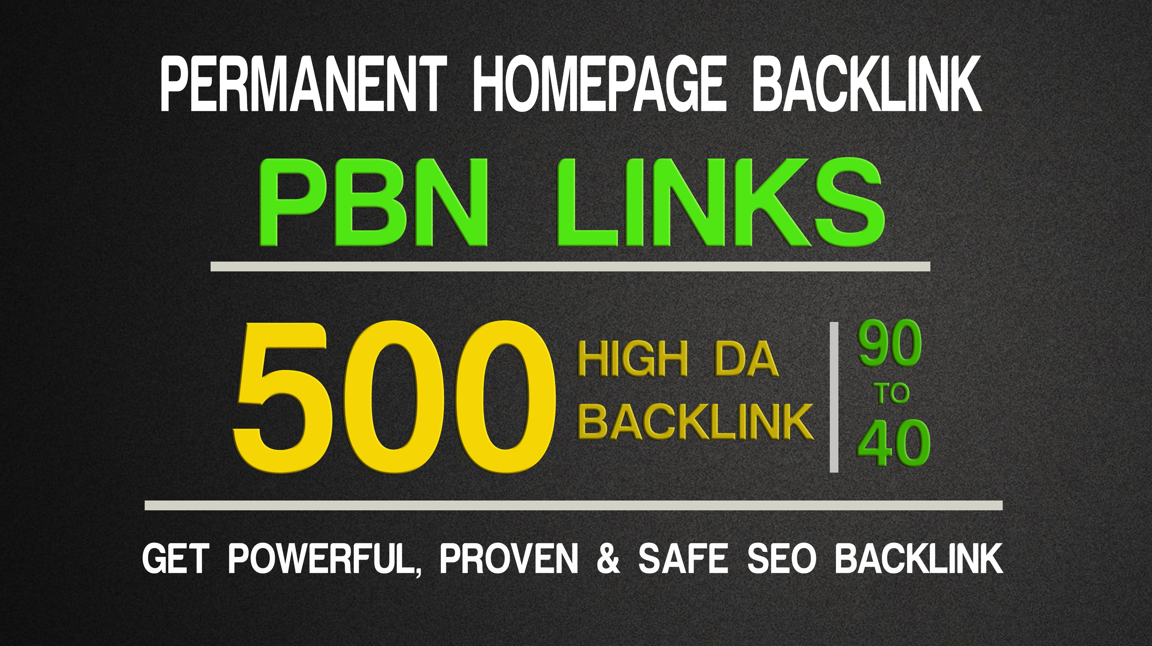 Get Extream 500 Parmanent BacklinK and PBN with high DA PA on your HomePage in extraordinary site