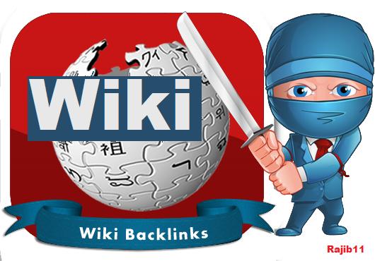 100 High Authority Wiki Backlinks on google ranking