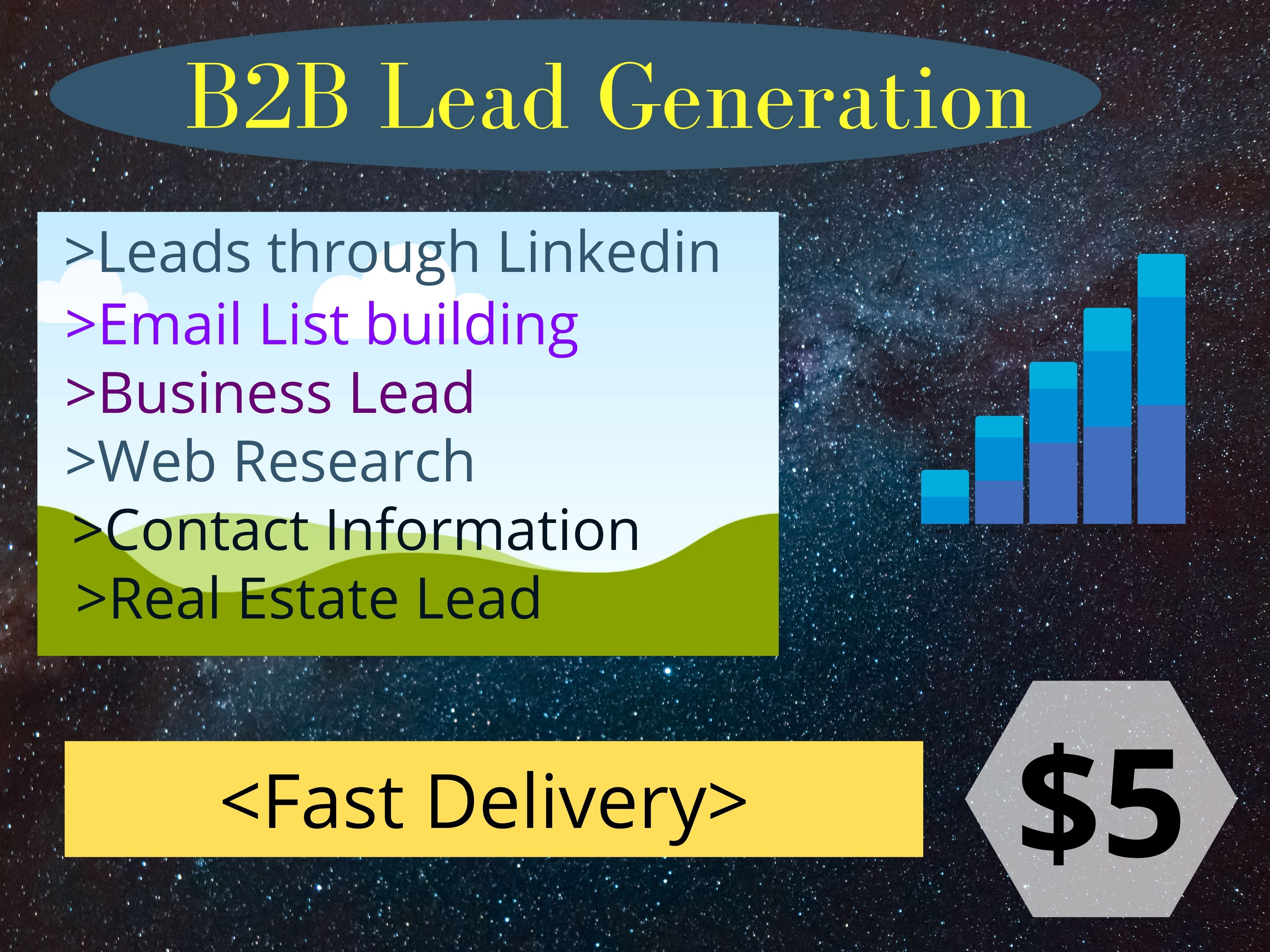 I will do B2B Lead Generation and Web Research to give you solid leads.