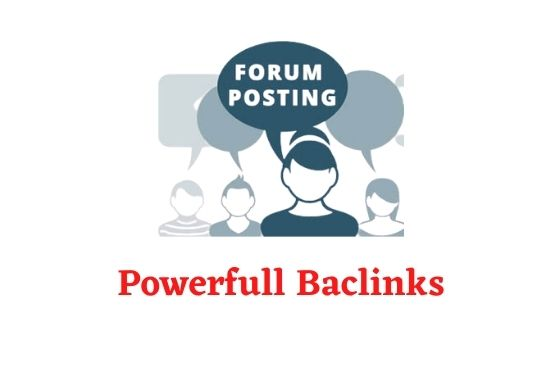 I will create manually 30 high quality forum posting backlinks