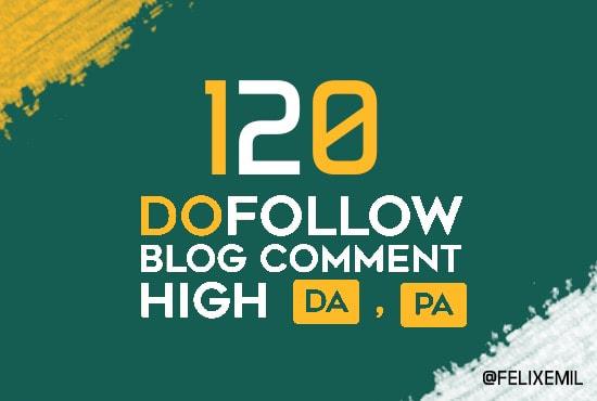do 120 prime quality dofollow blog comments