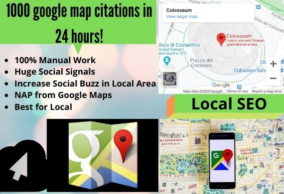 I will do 1000 google map citations in 24 hours for local SEO