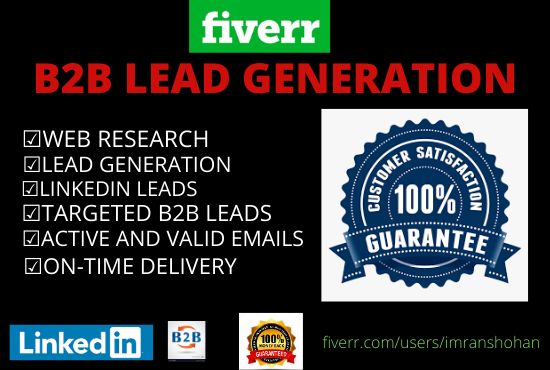 I will find active leads for your targeted business