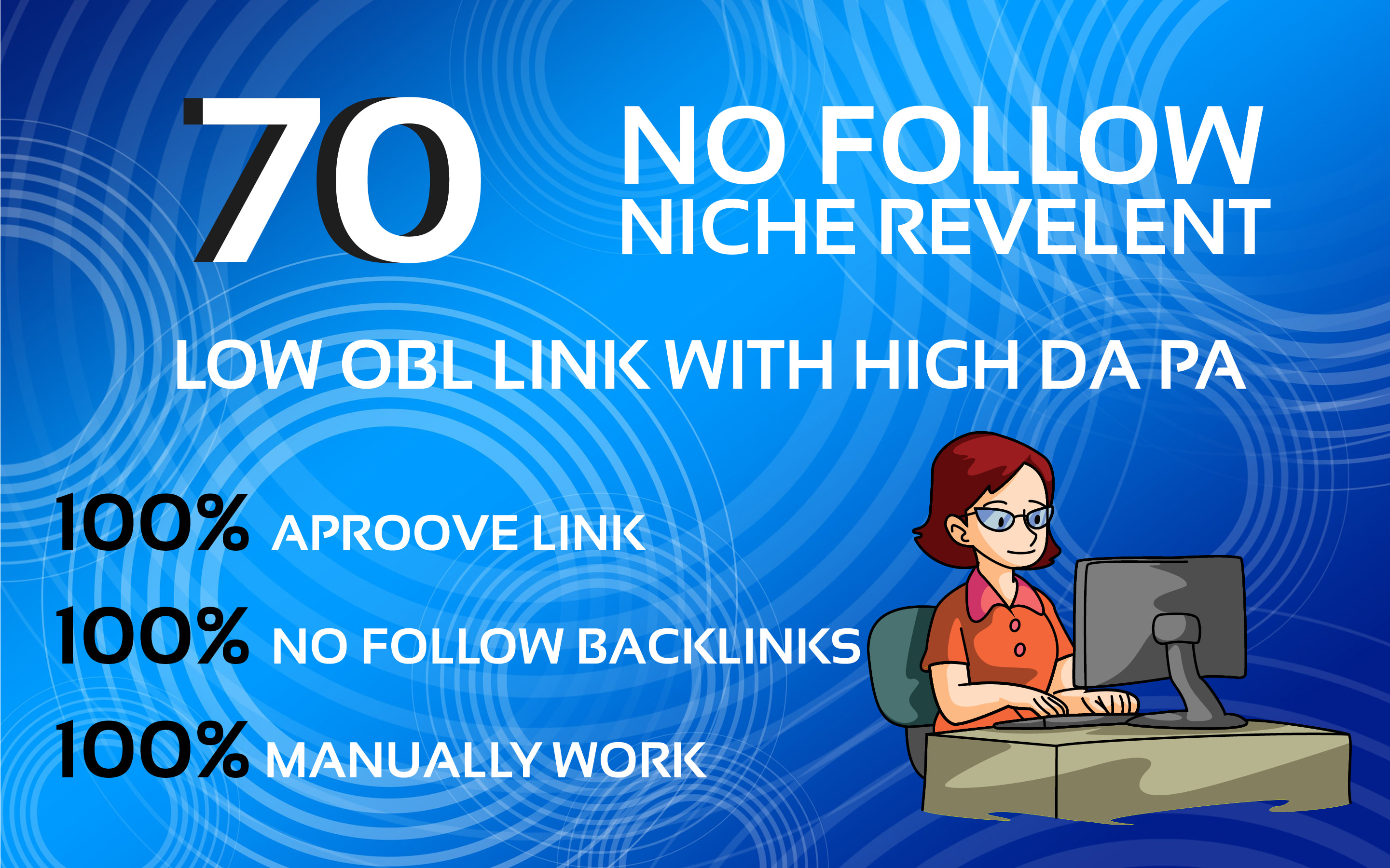 I will do 70 niche relevant blog comment backlinks low obl
