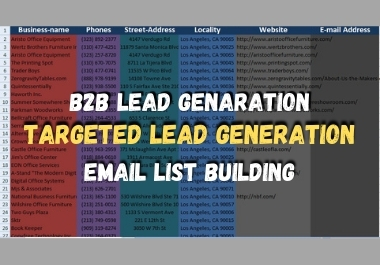 I will do B2B or targeted lead generation for you