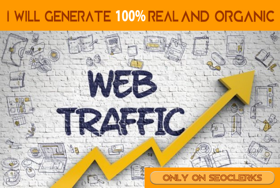 You will get 100 real and organic web traffic for your website