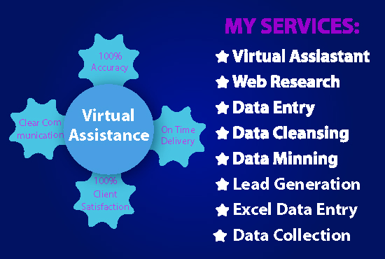 I will be your best Virtual Assistant for any kind of Virtual task
