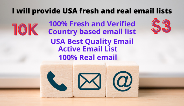I will provide USA fresh and clean email lists.