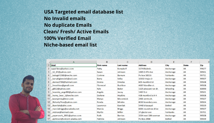 I will provide 50k USA verified Niche Based Email Database List