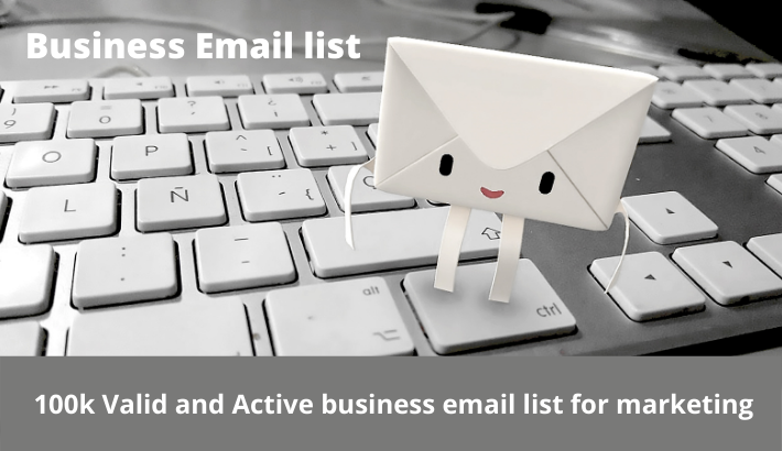 I will provide you 100k Valid and Active business email list for marketing
