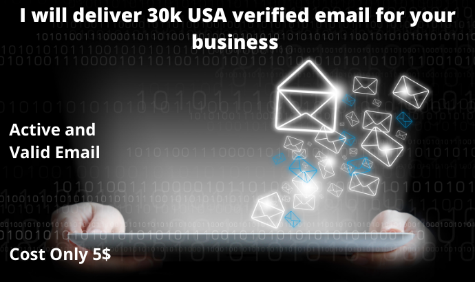 I will deliver 30k Valid and Active USA email