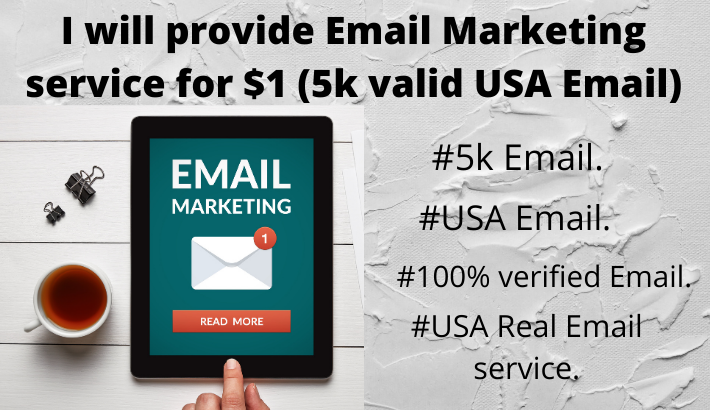 I will provide Email marketing service 5k email