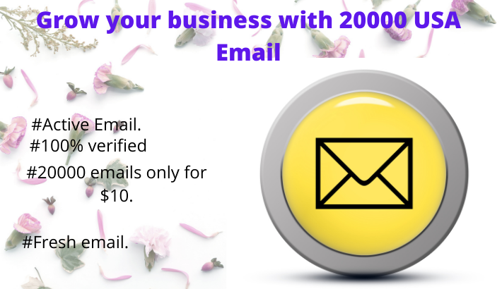 Grow your business with 20000 USA Email list
