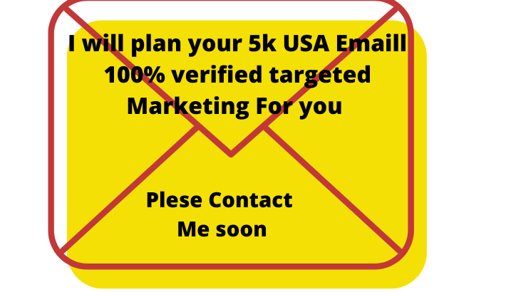 100%verified targeted I will plan your 5k USA Emaill 100% verified targeted Marketing Foremail list